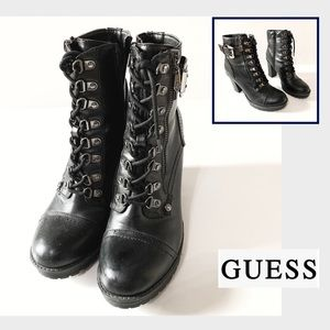 Guess Combat Style Ankle Boots